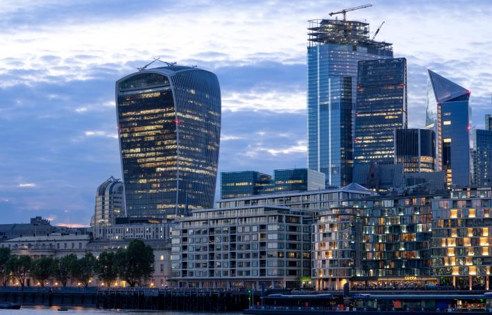 The Walkie-Talkie commercial skyscraper on 20 Fenchurch Street in the financial district of London
