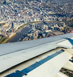 British Airways over Westminster