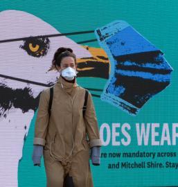 Mandatory mask wearing in Melbourne