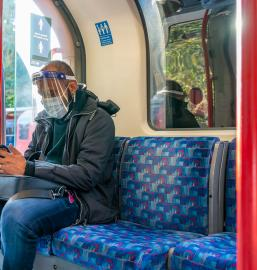 London underground during covid pandemic