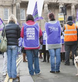 Public Sector Workers Protest in Lancaster