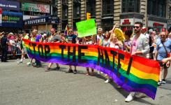 Stop the Hate - Marchers at the Gay Pride Parade in New York