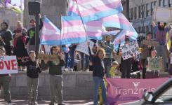 Trans rights rally, North Carolina