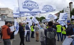 Drivers demonstrate outside Bolt offices, West London