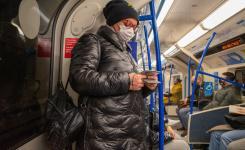 London underground during pandemic